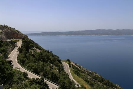 Beautiful scenery of the Adriatic coast in Croatia.