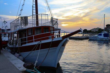 Beautiful sunset on the Adriatic Sea in Croatia Reklamní fotografie