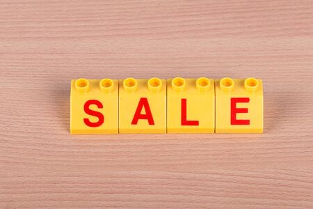 SALE - The word laid out from the childrens designer