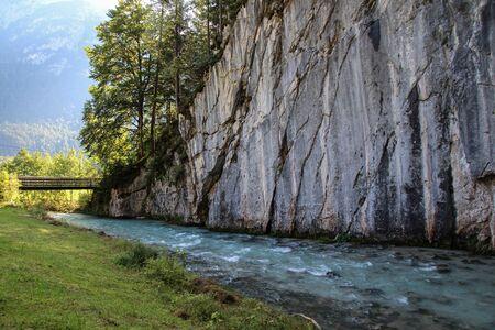 The Ghost Gorge or Leutascher Geisterklamm, Leutasch Klamm, Geisterklamm . Mittenwald . Germany Stockfoto