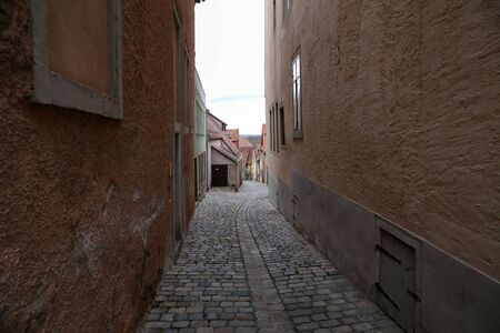 Narrow streets in the old town Rothenburg ob der Tauber, Germany Stock fotó