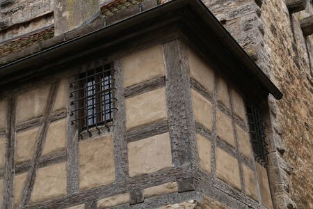 Corner of the fortress wall in Rothenburg ob der Tauber.
