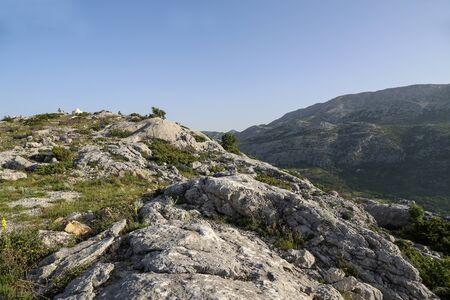 Rocky landscape in the mountains of Croatia near Split