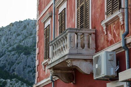 Balcony of an old house in Croatia