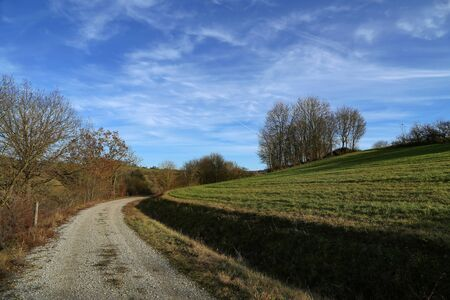 Winter landscape in central Europe is abnormally warm in winter