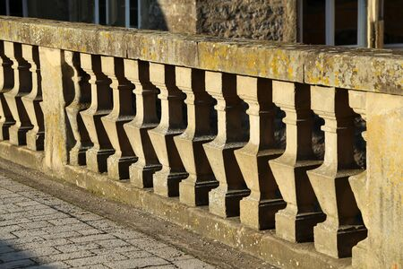 Detail of Concrete balustrade in the temple.