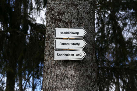Hiking trails in the Black Forest, translation - Panoramaweg, Baarblickweg, Sonnhaldenweg