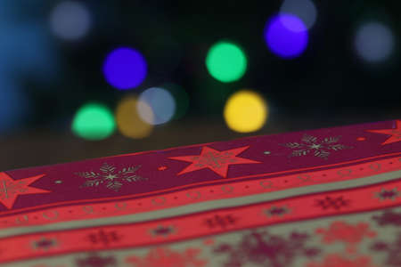 Christmas gift on background with beautiful bokeh Reklamní fotografie