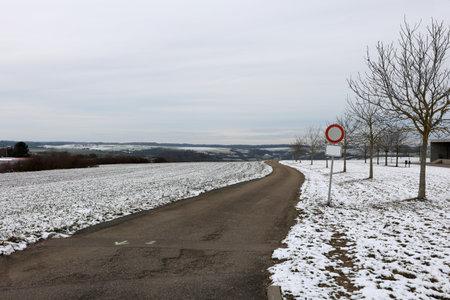 Fields and meadows on a frosty winter morning Reklamní fotografie