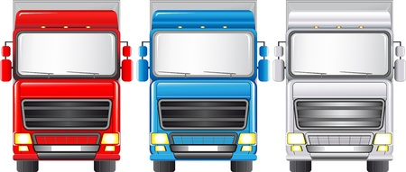 Transport set of isolated colorful trucks Stock Vector - 13921928