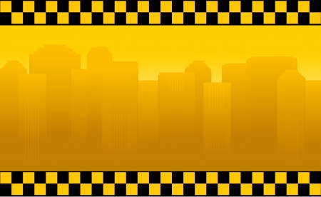 transport background with taxi sign and office building Vector