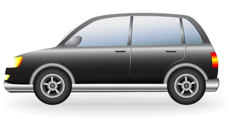 crossover:  black isolated luxury crossover silhouette, suv Illustration