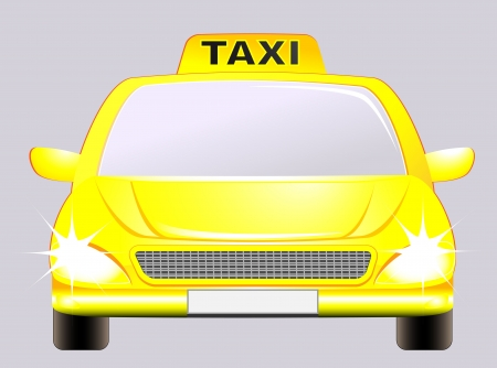 isolated car with taxi sign on the grey background Vector