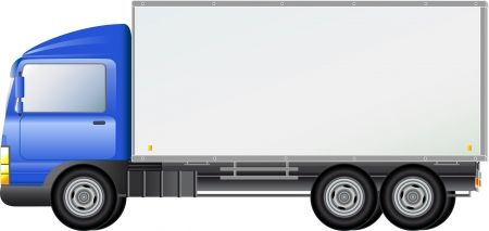 haul:  blue isolated shipping modern truck silhouette Illustration