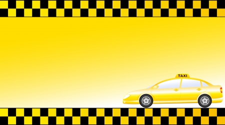 business card with glossy modern taxi car and space for text Stock Vector - 14845465