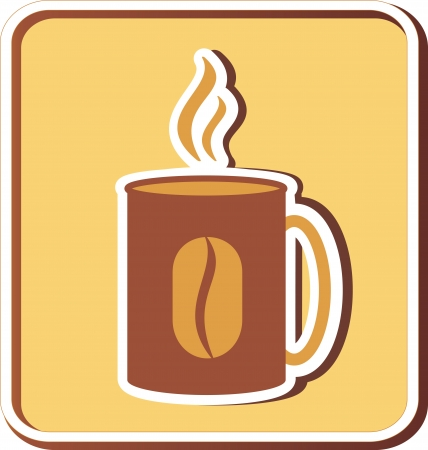 restaurant icon with coffee cup and smoke Vector