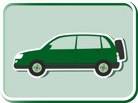crossover: icon with green crossover silhouette on light background