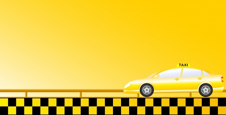 business taxi car background with road Vector