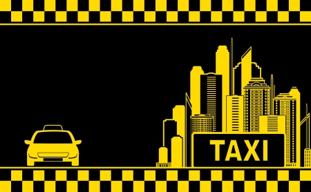 black night city background for taxi service business card Vector