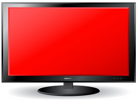 isolated red TV screen with place for text Stock Vector - 17399303