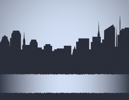 background with city landscape, skyscrapers and place for text Stock Vector - 17399319