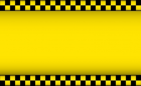 yellow background with taxi symbol and place for text Vector