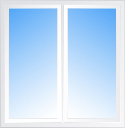background with blue light sky in modern window Stock Vector - 19118160