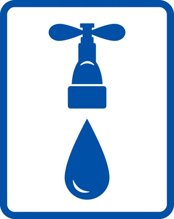 engeneering:  isolated water tap on white background Illustration