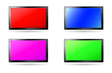 plasma screen: set of colorful modern plasma screen backgrounds with shadow