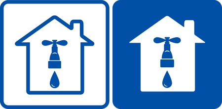 upkeep:   two signs with house and tap with water drop
