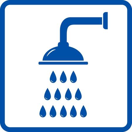douche avec des gouttes d'eau