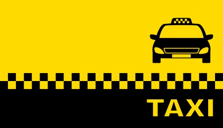 텍스트 택시와 장소 명함 일러스트