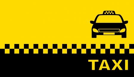 taxi: tarjeta de visita con el taxi y el lugar de texto