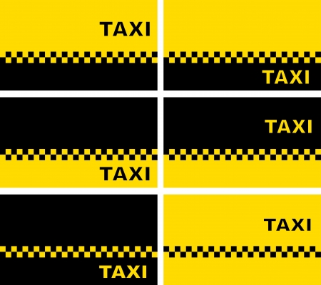 set of simple modern taxi business cards Vector