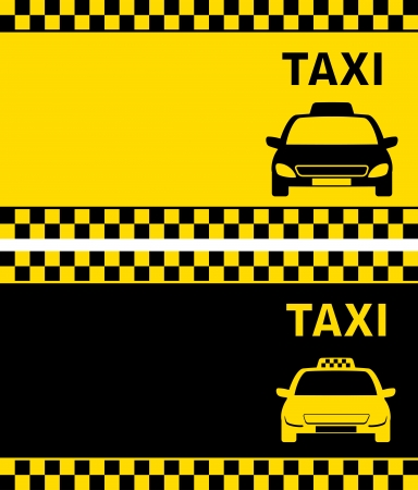 fare:   two taxi business card with cab image Illustration