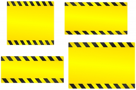industrial set of abstract yellow construction backgrounds Vector