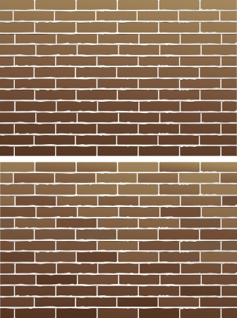 brick and mortar:  two background with old brown brick wall