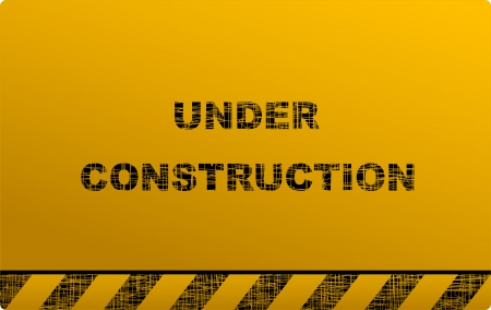construction signboard and text on dark yellow background Vector
