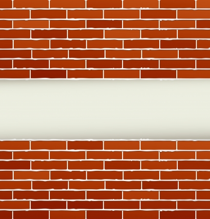 brickwork:  background with red brick wall   Illustration