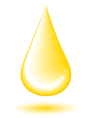 isolated big yellow drop on white background Vector