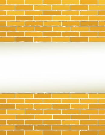 construction background with yellow brick wall and place for text Vector
