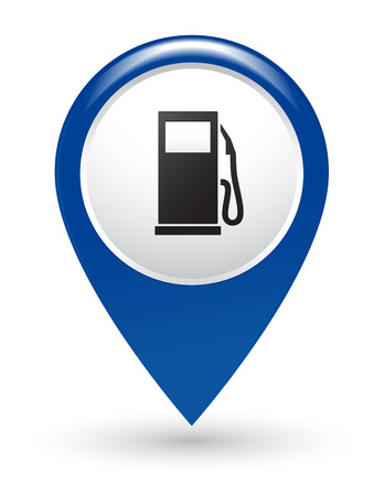 isolated blue gas station pointer Vector