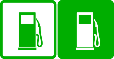 two simple green gas station icons Vector