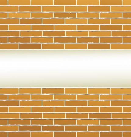 brick wall texture and empty place Stock Vector - 24232624