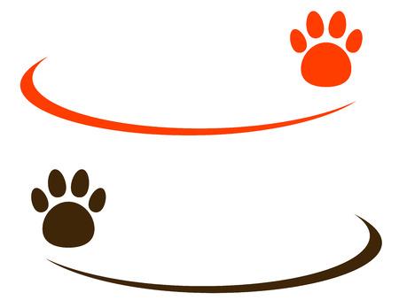veterinarian: twee achtergronden met kleurrijke paw