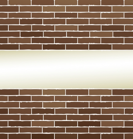 bricks texture with white background and place for text Illustration