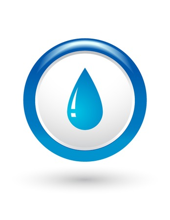 freshener: round sign with glossy water drop