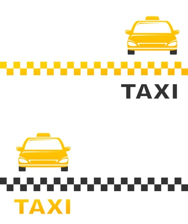 business card with cab and taxi sign Vector