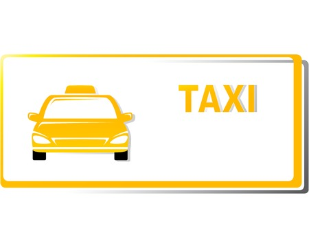 yellow taxi business card with place for text Vector