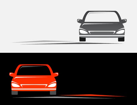 transport background with red and grey modern cars Vector
